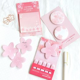 mini diary sticker Australia - 24 pcs Lot Sakura memo pad Mini floral leaf & Index sticky notes sticker Diary marker Stationery Office accessories School