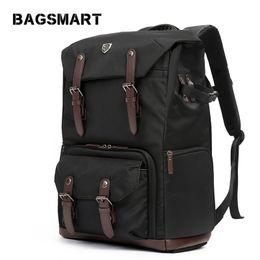 Dslr Cameras Bags Australia - bag BAGSMART for DSLR Waterproof with Rain Cover Backpack for Laptop Camera Lens Travel Camera Bags