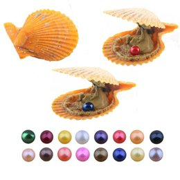 $enCountryForm.capitalKeyWord Australia - Free shipping 2019 DIY 27 colors round akoya single pearls oysters 6-7mm, individually wrapped, great party gift red shell mussel A-0089