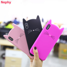 $enCountryForm.capitalKeyWord UK - Luxury Girl 3D Cat Ear Silicone Case For iPhone 6 6S 7 7S iPhone 8 Plus X XR XS Max 5 5S 5SE 6Plus 6SPlus 7Plus 8Plus Cell Phone