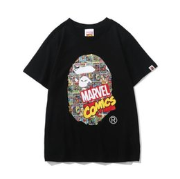 $enCountryForm.capitalKeyWord UK - Japanese style brand Marvel Comics comics cooperation black and white comics cover T-shirt superhero short sleeve size M-2XL
