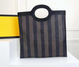 Tone model online shopping - Striped canvas handbag M1941 high quality leather bag brand designer handbag fashion shoulder handbag trend wild models