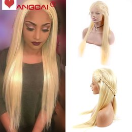 Beautiful Malaysian Lace Wigs Australia - Glueless beautiful virgin remy human hair long #613 silky straight full front lace top wig cheap for white women