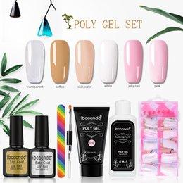 $enCountryForm.capitalKeyWord Australia - 1Set Professional Waterproof Poly Gel Lasting Finger Nail Crystal Jelly Camouflage UV Lamp Extension Set Makeup Tools L48