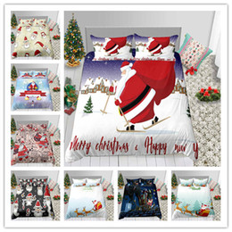 $enCountryForm.capitalKeyWord Australia - Hot Sale Merry Christmas Santa Claus Bedding Set New Year Winter Duvet Cover Single Double King Size For Home And Holiday Gifts