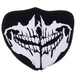 $enCountryForm.capitalKeyWord Australia - Motorcycle Cool Skull Camo Neck Half Face Mask Sport Biker Skateboard Scary Reversible Dustproof Protect Mask 3 Style One Size