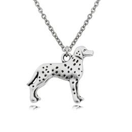 $enCountryForm.capitalKeyWord UK - Vintage Stainless Steel Chain Dalmatian Necklaces & pendants Boho Pet Dog Charms Necklaces For Women Men Friends Party Gift Collier 2019
