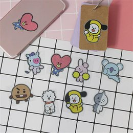 Cute Phone Stickers Australia - Kpop BTS BT21 Cute Metal Photo Stickers for Phone Notebook Laptop Bangtan Boys Chimmy RJ DIY Stickers