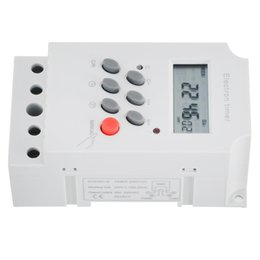 din rail switches UK - KG316T-II Electronic Timer AC 220V 25A Din Rail Digital Programmable Electronic Timer Switch Electric Equipment Control on off