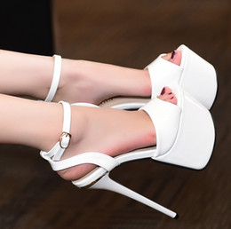 Red Heeled Shoes White Australia - 17cm Sexy red bottom high heel shoes bridal wedding shoes white size 34 to 39