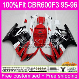 $enCountryForm.capitalKeyWord Australia - Injection For HONDA CBR 600F3 CBR600FS CBR 600 FS F3 1995 1996 77HM.41 Top Red White 100%Fit CBR600RR CBR600F3 CBR600 F3 95 96 OEM Fairings