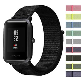 nylon wrist watch bands Australia - 20mm Watch Bands for Xiaomi Huami Amazfit Bip Youth Watch Nylon Sport Loop Stainless Steel Mesh wrist Strap for Amazfit Bip band