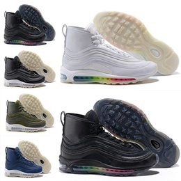 Discount air bangs - 97 Running Shoes For Men Gao Bang Air Cushion 97s Black White Og Athletics Trainers Outdoor Max 97 Fashion Sneakers Size