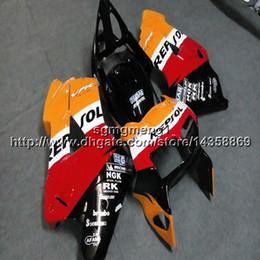 $enCountryForm.capitalKeyWord Australia - Gifts+Screws repsol orange motorcycle article for HONDA VFR800 1998 1999 2000 2001 ABS plastic motor Fairing kit