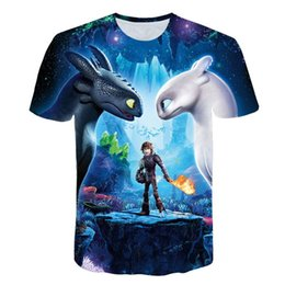 Chinese  2019 Pocket Toothless T-shirt Men Cute Tops How To Train Your Dragon Cartoon Tees 3D T Shirt Summer Grey Clothes Cotton Tshirt manufacturers