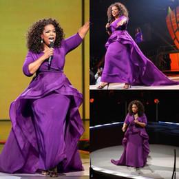 $enCountryForm.capitalKeyWord NZ - Elegant Oprah Winfrey Celebrity Evening Gowns OverSkirt Dubai Arabic Style With Sleeve Plus Size Women Formal Wear 2019 Prom Interviews Gwon
