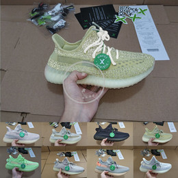 $enCountryForm.capitalKeyWord NZ - With Stock X Kanye West Antlia Reflective Running Shoes Women Mens Trainers Fashion Reflective Luminous Designer Sport Sneakers Size 36-48