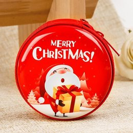 Tree Wallets Australia - Christmas Round Coin Purse Tree Santa Claus Print Decoration Children Gifts Window Pendant Cute Lovely Small Mini Wallet Purses