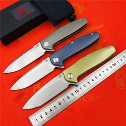 $enCountryForm.capitalKeyWord NZ - Yon Xanadu New YX-750 original free shipping blasting non-slip gray titanium handle knife VG-10 hunting outdoor survival pocket knife EDC