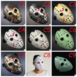 $enCountryForm.capitalKeyWord UK - Full Face Mask Antique Killer Mask Jason vs Friday The 13th Prop Horror Hockey Halloween Costume Cosplay Mask