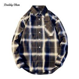 Navy Blue Slim Shirt Australia - New Fashion brand Plaid Casual Shirts Blue Navy dress shirt men Hip Hop slim fit Breathable long sleeve male shirt plus size 3xl