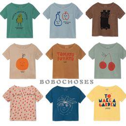 Bobo Cartoon Australia - Bbk Bobo 2019 New Summer Baby Girl Clothes 100% Cotton Short Sleeve Cartoon Toddler Boys T-shirts Kids Tops Tees C* J190427