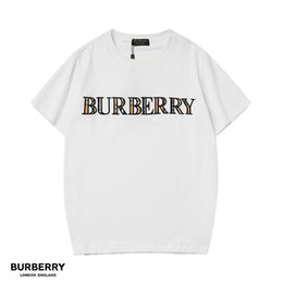 Discount clothing printing london - 19SS Designer Brand Mens T Shirts Classic Embroidery Letter Colorful England Of London BUR T-Shirt Women Clothes Shirt