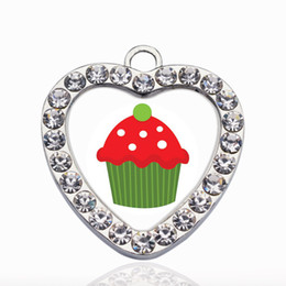 $enCountryForm.capitalKeyWord NZ - Holiday Cupcake Circle Charm Trendy Charms Necklace Pendant Jewelry Accessory Making Man Women Retro Style Jewelry