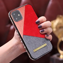 Wholesale coloured iphone resale online - Bling Glitter colour Diamond Rhinestone Phone Skin Cover protect TPT PC for Iphone11 Iphone11pro Iphone11max iphone XR MAX PLUS