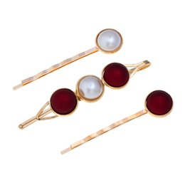 China 7 style Pearl hairpin set alloy hairpin clip cute girl word clip clip headdress women hair accessories Gift for family, friends. cheap african hair styles for women suppliers