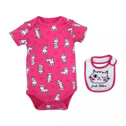 97c75c727f94 2019 newborn baby rompers and ribbon 3M 6M 9M 12M baby rompers rabit animal  printing full cotton kids toddler suits factory price
