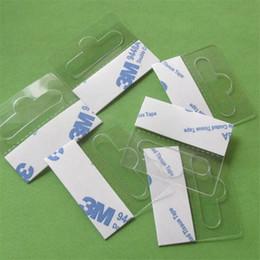 box tab 2019 - Self-adhesive PEThangers peghook Merchandising Hanger Tabs Round Hole Bulk box bag holder plastic display reinforced sti