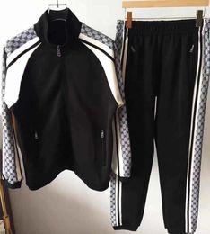 Wholesale men's short suit sets for sale – designer AA2019 Medusa sportswear men s full zipper men s sports suit men s sweatshirt set and pants Medusa sportswear