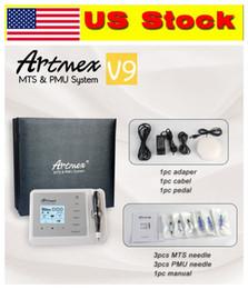 США Stock! Artmex V9 Постоянный Microblading МТС PMU Digital Перманентный макияж машина татуировки микро лопаточного дермы губы перо Брови Eyeliner на Распродаже