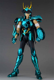 Seiya Figures Australia - GREAT Toys GT Saint Seiya Shiryu EX bronze Saint dragon Shiryu V3 metal armor Myth Cloth Action Figure Model Toys For child Gift