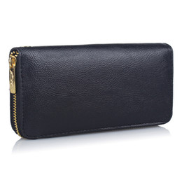 Free purse patterns zippers online shopping - Sleeper NEW Women Lichee Pattern Road Wallet Coin Bag Purse Phone Bag solid color simple design gifts