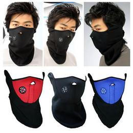 Boys Black Face Mask Australia - Bike Cycling Balaclava Fleece Half Face Mask Hood Protection Ski Mask Neck Outdoor Sports Cycling Winter Warm Scarf Mask