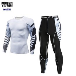 $enCountryForm.capitalKeyWord Canada - Sportswear Tracksuit Men Fashion Top Pants Fitness Sports Running Yoga Gym High Elastic Quick Dry Breathable Bodysuit
