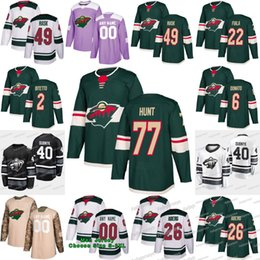 Hockey jersey suter online shopping - 77 Brad Hunt Minnesota Wild Anthony Bitetto Victor Rask Pontus Aberg Devan Dubnyk Zach Parise Ryan Donato Ryan Suter Kevin Fiala Jerseys