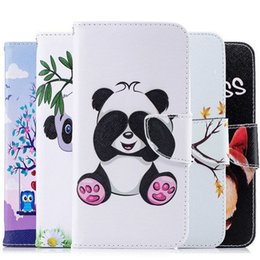 Painting Clip Australia - Flip Case for Samsung Galaxy J4 Plus J4+ J415 J415F J415FN DS J4Plus SM-J415 SM-J415F SM-J415FN DS 3D Painted Phone Leather Case