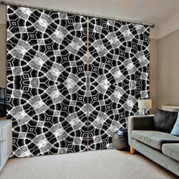 decor curtains living room 2019 - black and white curtains Blackout curtain Drapes Living room Bedroom Decor 2 Panels HooksWindow Curtains discount decor