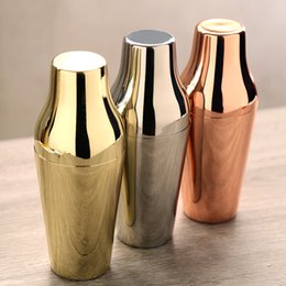 $enCountryForm.capitalKeyWord Australia - 650ML Two-section Cocktail Shaker 6 Colors French Style Stainless Steel Shaker Kitchen Bar Tools 10 Pieces DHL
