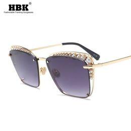 96841e9a3ad 2018 Oversized Sunglasses Women Fashion Cat Eye Pearl Sunglasses Vintage  Brand Designer Cateye Sun Glasses Points Metal Frame