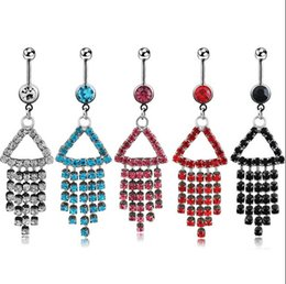 $enCountryForm.capitalKeyWord Australia - D0063 ( 4 colors ) Belly navel ring Nice style navel belly ring 20 pcs clear color stone drop shipping