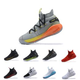 825e8326bbed 2019 New Mens curry 6 basketball shoes new Fox Black Green Red Rage  Christmas Blue Stephen Currys vi sports sneakers boots EUR 40-46