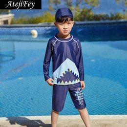 eb00252aca 2019 Summer Boys Swimsuits Bathing Suit Two Pieces Separates Rash Guards  Baby Toddler Boy's Swimming Suit Children Swimwear