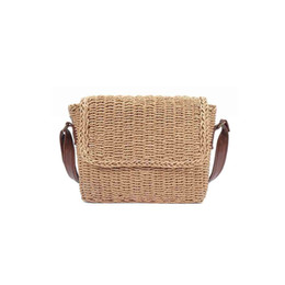 $enCountryForm.capitalKeyWord UK - Fabala Straw Adjustable Strap Ladies Wild Buckle Party Shoulder Bag Shopping Casual Simple Women Bag Crossbody Hand-woven