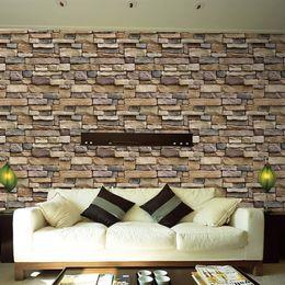 Painting Supplies & Wall Treatments Humble Vinyl Self Adhesive Wallpaper Brick Pvc Wall Stickers Waterproof Brick Wall Paper For Living Room Kitchen Bathroom Bedroom Decor