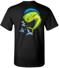 T Bait Australia - Dolphin With Flying Bait Fish Tee Saltwater Fishing Mens T-Shirt Mens 2018 fashion Brand T Shirt O-Neck 100%cotton T-Shirt Tops