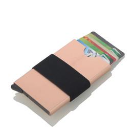Black Blocks Australia - New Automatic Pop Up Holder Men Aluminum Wallet With Back Pocket ID Blocking Mini Metal Wallet
